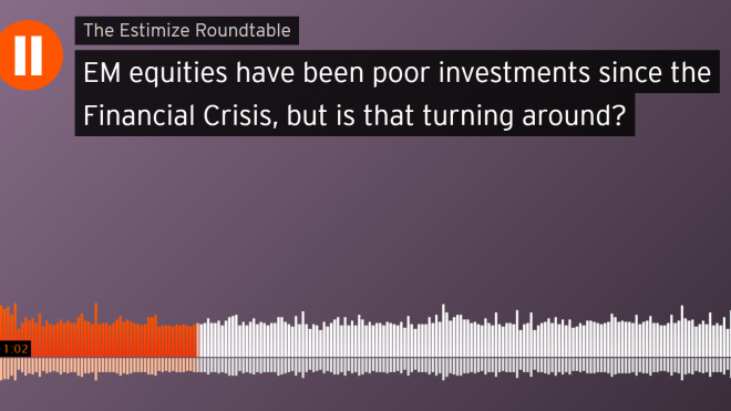 """Estimize: """"EM equities have been poor investments since the Financial Crisis, but is that turning around?"""""""